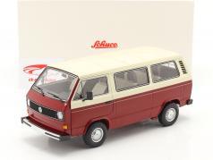 Volkswagen VW T3a Transporter rood / room Wit 1:18 Schuco