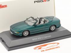 BMW 850 CI コンバーチブル (E31) 緑 メタリック 1:43 Schuco