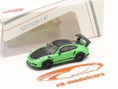 Porsche 911 (991) GT3 RS verde / Preto 1:87 Schuco