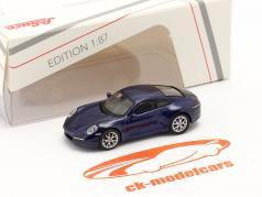 Porsche 911 (992) Carrera S Coupe azul metálico 1:87 Schuco