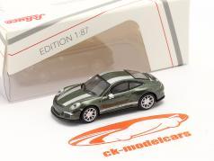 Porsche 911 (991) R verde metálico 1:87 Schuco