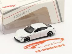 Porsche Taycan Turbo S 白い 1:87 Schuco