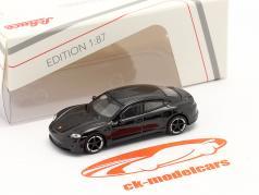 Porsche Taycan Turbo S  黒 1:87 Schuco