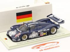 Sauber C9 #61 勝者 Supersprint Nürburgring Supercup 1987 Schlesser 1:43 Spark
