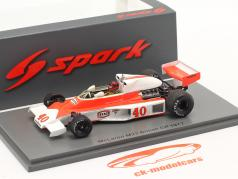 Gilles Villeneuve McLaren MCL23 #40 Britannico GP formula 1 1977 1:43 Spark