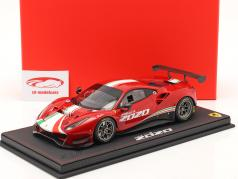 Ferrari 488 GT3 year 2020 corsa red 1:18 BBR