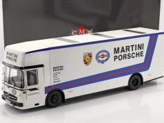 Mercedes-Benz O 317 Raça Carro Transportador Porsche Martini Racing Branco 1:18 CMR