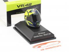 Valentino Rossi MotoGP 2018 AGV hjelm 1:8 Minichamps