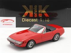 Ferrari 365 GTB/4 Daytona Cabriolet Serie 1 1969 rød 1:18 KK-Scale