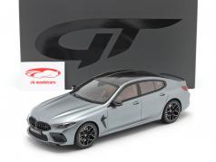 BMW M8 Gran Coupe Competition 2020 frozen bluestone metallisk 1:18 GT-Spirit