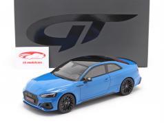 Audi RS 5 Coupe Bouwjaar 2020 turbo blauw 1:18 GT-Spirit
