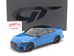 Audi RS 5 Coupe Byggeår 2020 turbo blå 1:18 GT-Spirit
