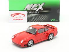 Porsche 959 rojo 1:24 Welly