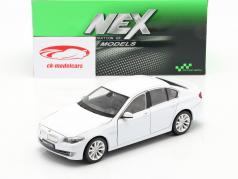 BMW 535i Bouwjaar 2010 Wit 1:24 Welly