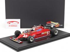 Gilles Villeneuve Ferrari 126CK #27 formula 1 1981 with showcase 1:18 GP Replicas