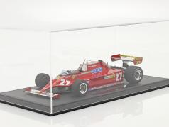 Gilles Villeneuve Ferrari 126CK #27 formula 1 1981 with showcase 1:18 GP Replicas