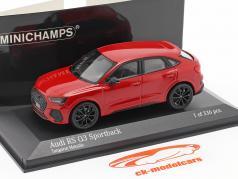 Audi RS Q3 Sportback (F3) Ano de construção 2019 tango vermelho metálico 1:43 Minichamps