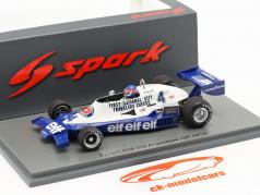 Patrick Depailler Tyrrell 008 #4 Tercero Argentino GP fórmula 1 1978 1:43 Spark