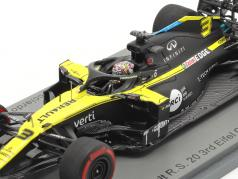 Daniel Ricciardo Renault R.S.20 #3 3e Eifel GP formule 1 2020 1:43 Spark