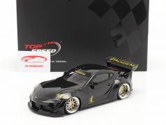 Pandem Toyota GR Supra V1.0 Año de construcción 2020 negro 1:18 TrueScale