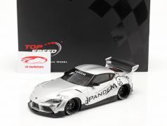 Pandem Toyota GR Supra V1.0 建設年 2020 銀 1:18 TrueScale