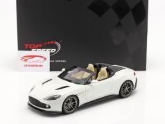 Aston Martin Vanquish Zagato Speedster 建設年 2017 脱出 白い 1:18 TrueScale