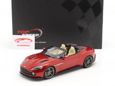 Aston Martin Vanquish Zagato Speedster 建設年 2017 溶岩 赤 1:18 TrueScale
