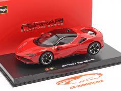 Ferrari SF90 Stradale Byggeår 2019 rød 1:43 Bburago Signature