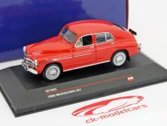 Warszawa 201 anno 1960 rosso 1:43 Ixo IST-Models / 2 ° scelta