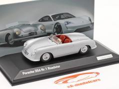 Porsche 356 Nr.1 Roadster 1948 70º Aniversário prata 1:43 Minichamps