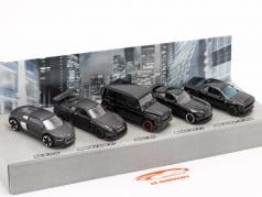 5-Car Set Black Edition Cadeauset 1:64 Majorette