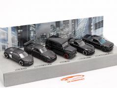 5-Car Set Black Edition Conjunto de presente 1:64 Majorette