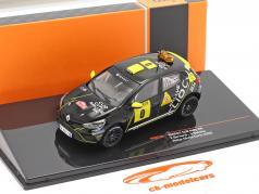 Renault Clio Rally #0 Advance køretøj Rallye Monte Carlo 2020 Bernardi, Bellotto 1:43 Ixo