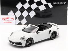 Porsche 911 (992) Turbo S Conversível Ano de construção 2020 Branco metálico 1:18 Minichamps