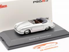 Porsche 356 Gmünd Cabriolet sølv 1:43 Schuco