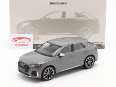 Audi RS Q3 Sportback (F3) Ano de construção 2019 cinza metálico 1:18 Minichamps