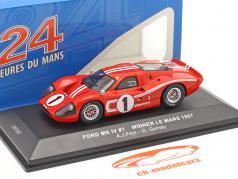 Ford GT40 MK IV #1 победитель 24h LeMans 1967 Gurney, Foyt 1:43 Ixo
