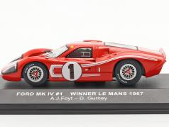 Ford GT40 MK IV #1 gagnant 24h LeMans 1967 Gurney, Foyt 1:43 Ixo