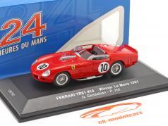 Ferrari TRI/61 #10 勝者 24h LeMans 1961 Gendebien, Hill 1:43 Ixo