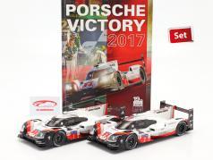 2-Car Set Med Bestil: Porsche 919 Hybrid #1 #2 vinder 24h LeMans 2017 1:18 Ixo