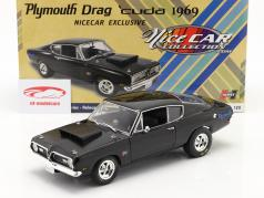 Plymouth Hemi Cuda Drag Car 1969 black 1:18 GMP