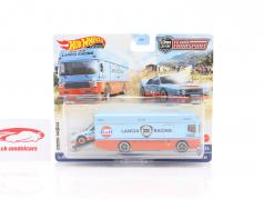 Set Team Transport: Lancia Rally 037 & Euro Hauler Gulf 1:64 HotWheels