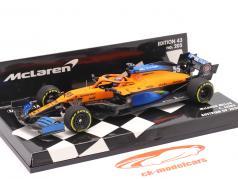 C. Sainz jr. McLaren MCL35 #55 5位 オーストリア航空 GP 式 1 2020 1:43 Minichamps