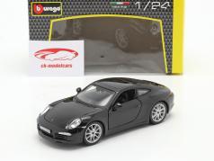 Porsche 911 (991) Carrera S Año de construcción 2013 negro 1:24 Bburago