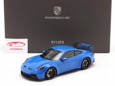 Porsche 911 (992) GT3 Année de construction 2021 shark blue Avec Vitrine 1:18 Minichamps