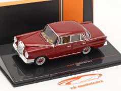 Mercedes-Benz 220 SE (W111) Ano de construção 1959 vermelho escuro 1:43 Ixo