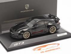 Porsche 911 (992) GT3 建設年 2021 深い黒 メタリック 1:43 Minichamps