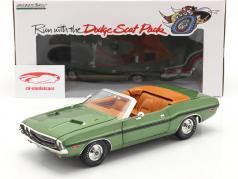 Dodge Challenger R/T Convertible year 1970 green metallic 1:18 Greenlight