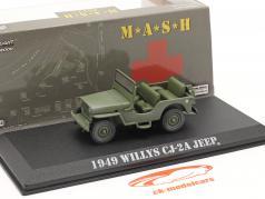 Willys Jeep CJ-2A 1949 电视剧 M*A*S*H (1972-83) 橄榄 1:43 Greenlight