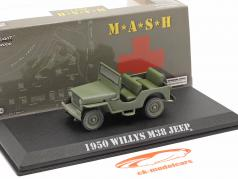 Jeep Willys M38 1950 TV serier M*A*S*H (1972-83) oliven 1:43 Greenlight